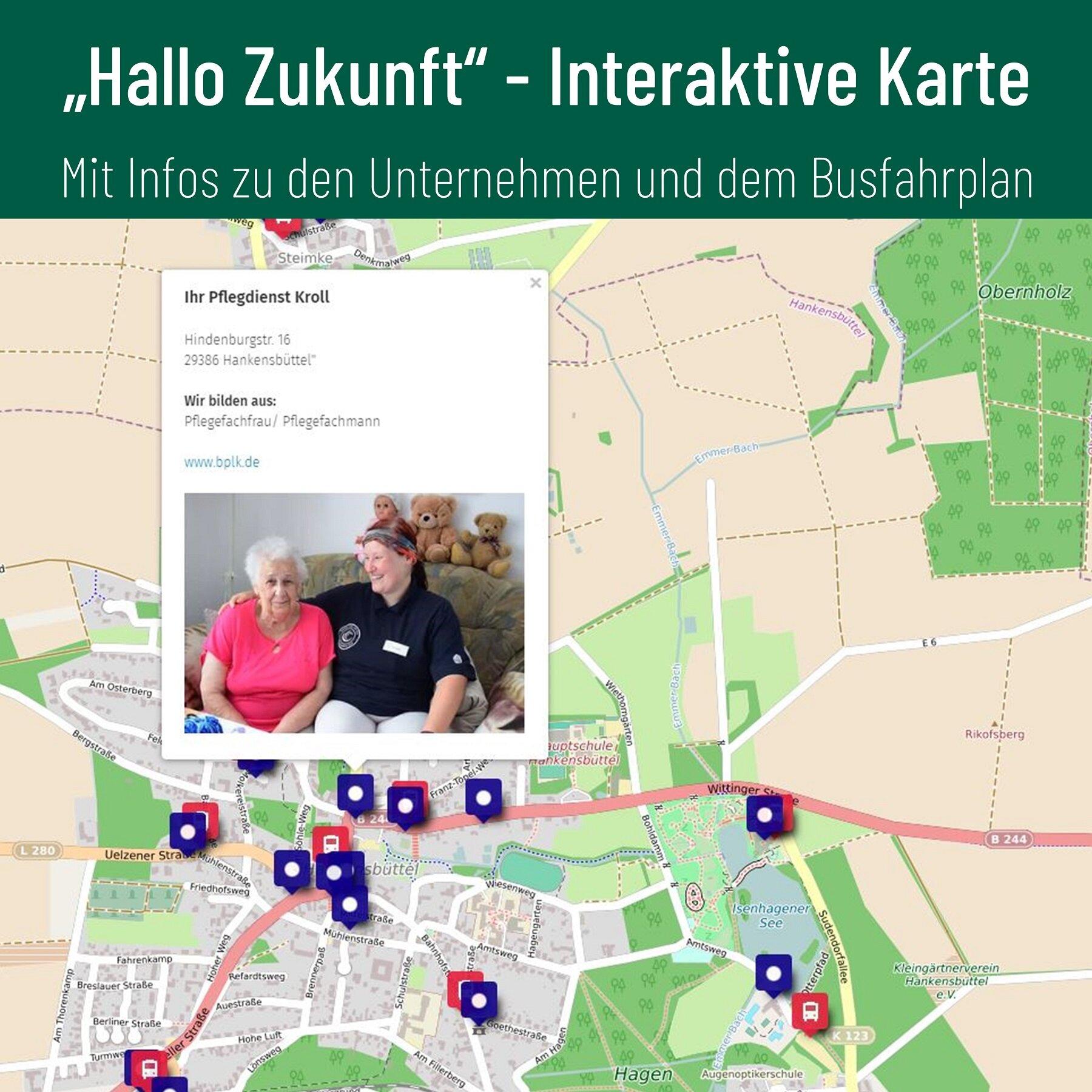 Bildausschnitt interaktive Karte